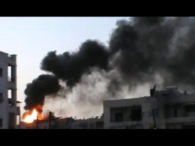 Un'immagine del conflitto siriano