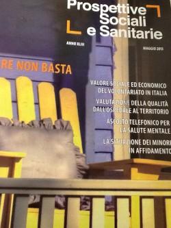 La copertina della rivista Prospettive Sociali e Sanitarie