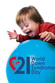 Un bambino da sindrome di down