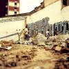 I resti di un paese dopo un conflitto