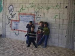 Bambini al campo di Jibaliya