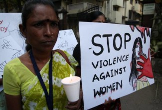 Protest against the recent brutal gang-rape in Mumbai