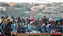 IMMIGRATION: A MIGRANT LAMPEDUSA SHIP WITH 600 ON BOARD
