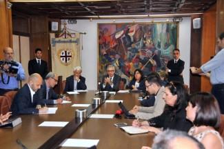 Conferenza stampa Pigliaru, Firino e Paci sulla scuola
