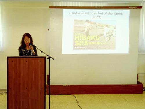 Un momento della presentazione del film di Hitomi Kamanaka