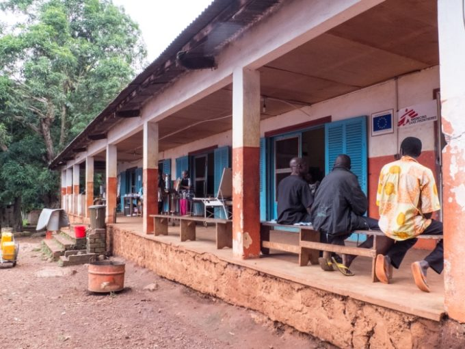 Entrance of the in-patient department of Zemio hospital. Central African Republic (CAR)  MSF has worked in Zemio since 2010, currently running an HIV/AIDS community-based care project. MSF's HIV/AIDS project is the only one of its kind in the whole south-eastern region of CAR and provides free treatment to more than 1,600 patients who come to Zemio from as far away as 250 kilometres to seek treatment.
