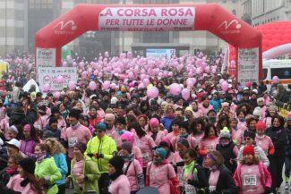 corsa rosa partenza in piazza Vittoria, Brescia 4 marzo 2018. Ph Fotolive/Filippo Venezia