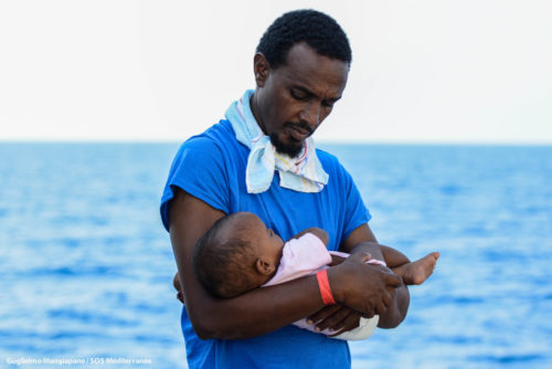 At 11:50 AM local time on Friday, 10 August 2018, 25 people were rescued in the Central Mediterranean near the Libyan coast. The rescued people were found adrift on a small wooden boat with no engine on board and were believed to have been at sea for nearly 35 hours. Just hours later, the Aquarius performed a second rescue of 116 men, women and children, including 67 unaccompanied minors, found on an overcrowded wooden boat. Those rescued originated from Somalia, Eritrea, Cameroon, Ivory Coast, Egypt, Morocco, Senegal, Togo, Ghana, Bangladesh, and Nigeria. While there were no critical medical cases among those rescued, many people were extremely weak from being out at sea on unstable boats and from their time in Libya where many say they were held in inhumane conditions.